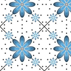 Blue_Tribal_Flame_flower_pokadot