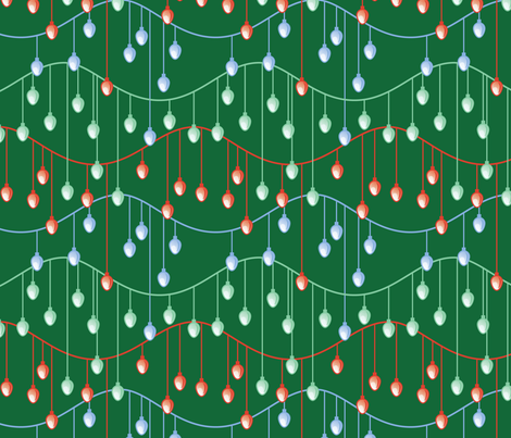 Holiday Lights (dark) fabric by studiofibonacci on Spoonflower - custom fabric