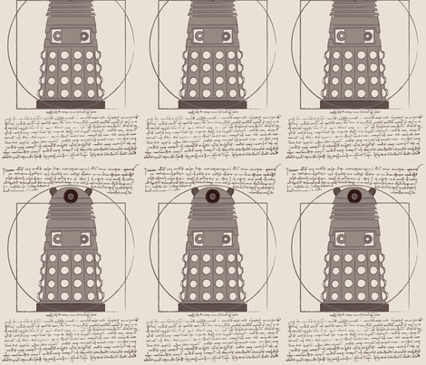 Vitruvian Dalek (rough)