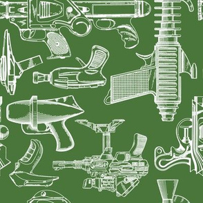 Ray Gun Revival (Olive Green) (8x8)