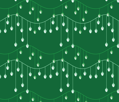 Holiday Lights (Dark Green) fabric by studiofibonacci on Spoonflower - custom fabric