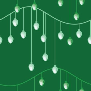 Holiday Lights (Dark Green)