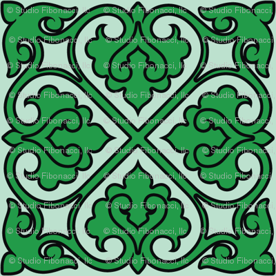 Victorian Ornament (green)
