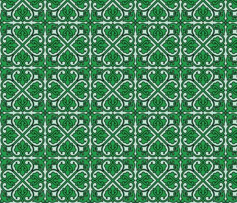 Victorian Ornament (green)