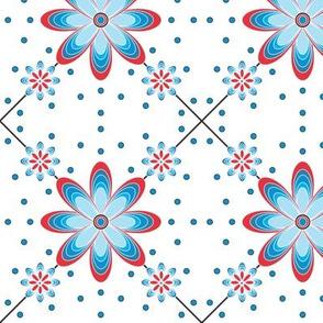 Turquoise_flower_pokadot