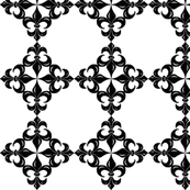 Fleur-de-Lis pattern - black and white