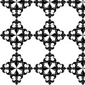 Fleur-de-Lis pattern - black and white