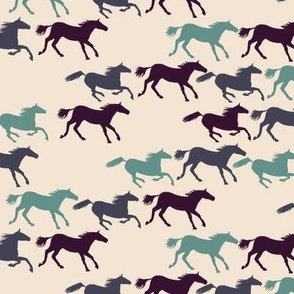 wild horses - multi blue