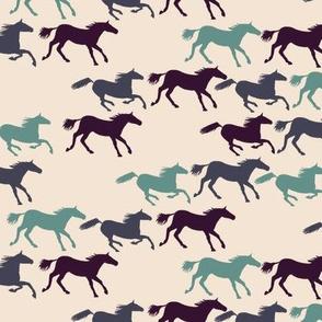 wild horses - multi blue