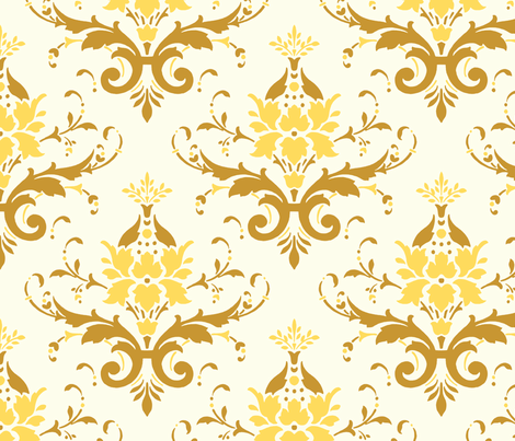 Victorian Flourish (yellow)