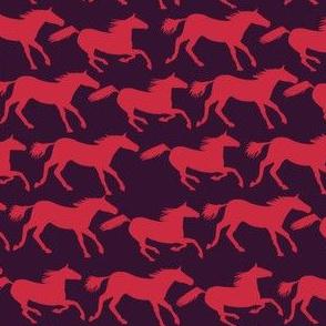 wild horses - blush red