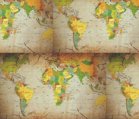 world map large fabric by krs_expressions on Spoonflower - custom fabric