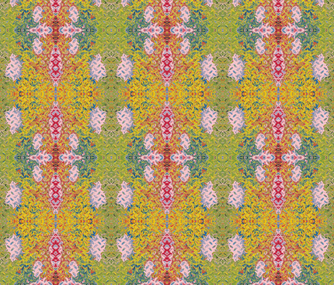 Tibetan Manhole Cover fabric by susaninparis on Spoonflower - custom fabric