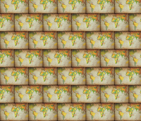 world map medium fabric by krs_expressions on Spoonflower - custom fabric