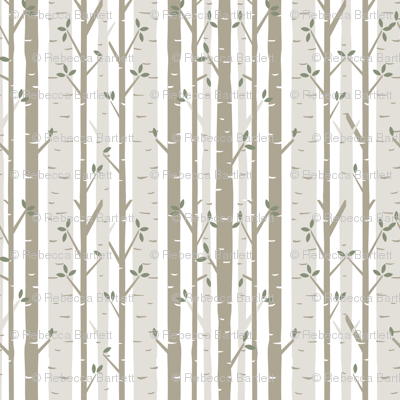 Birch Tree Fabric