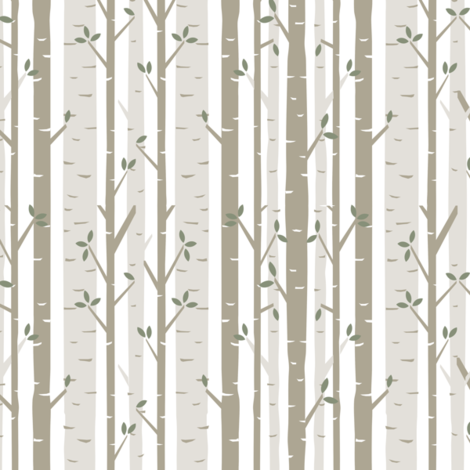 Birch Tree Fabric fabric by bartlett&craft on Spoonflower - custom fabric