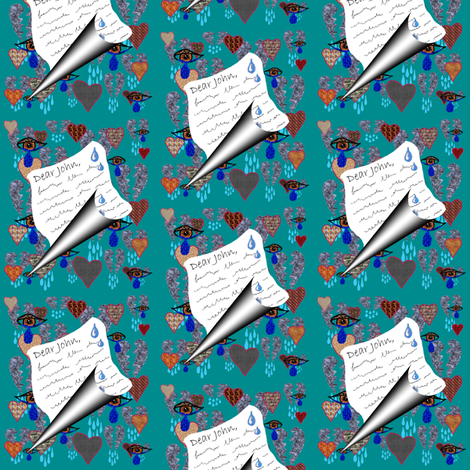 Dear John Letter fabric by amy_g on Spoonflower - custom fabric