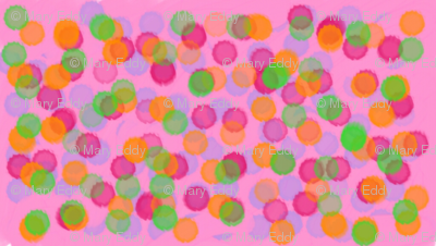 pinkand green polkadots