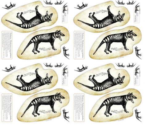 Thylacine Cut & Sew fabric by trubludesign on Spoonflower - custom fabric