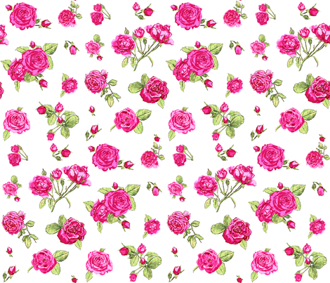 shabby chic roses fabric by katarina on Spoonflower - custom fabric