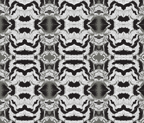 Waves-Black & White fabric by oddgirl on Spoonflower - custom fabric