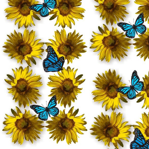 sunflower_2_with_butterflies