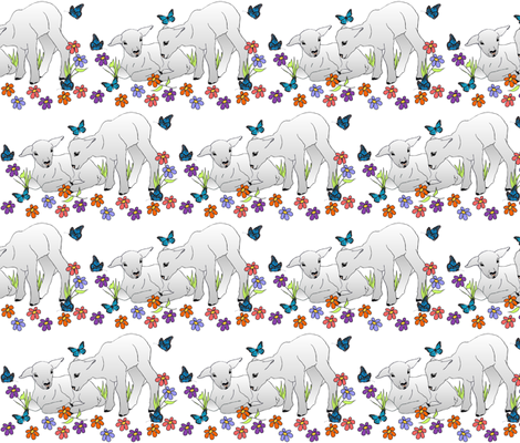 spring_lambs fabric by tat1 on Spoonflower - custom fabric