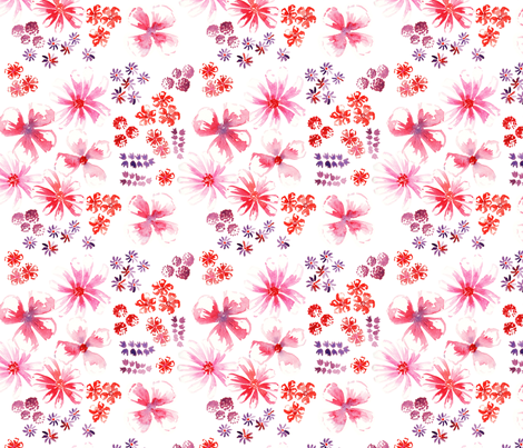 amélie fond blanc M fabric by nadja_petremand on Spoonflower - custom fabric