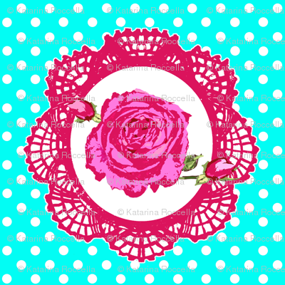 cameo shabby roses and dots