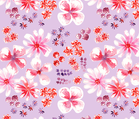 amélie fond mauve L fabric by nadja_petremand on Spoonflower - custom fabric