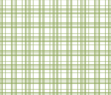 simple green plaid fabric by katarina on Spoonflower - custom fabric