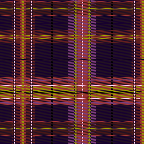 Plaid purple pink fabric by glimmericks on Spoonflower - custom fabric