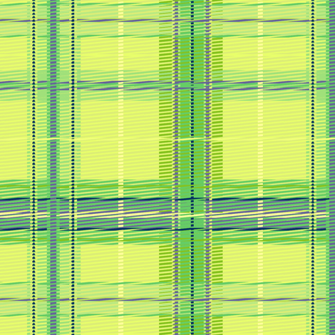 plaid_citrus fabric by glimmericks on Spoonflower - custom fabric