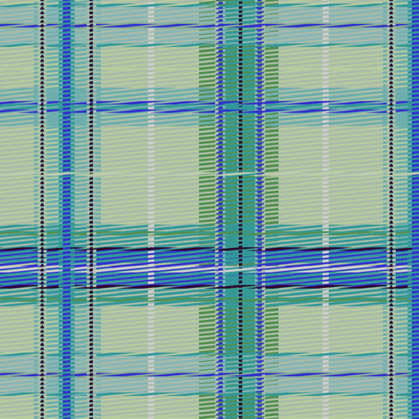 plaid_mintsky fabric by glimmericks on Spoonflower - custom fabric