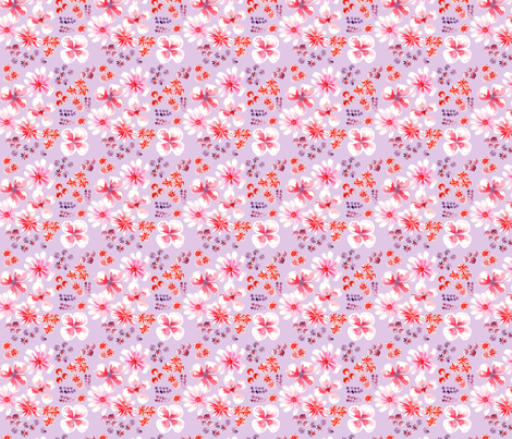 amélie fond mauve S fabric by nadja_petremand on Spoonflower - custom fabric