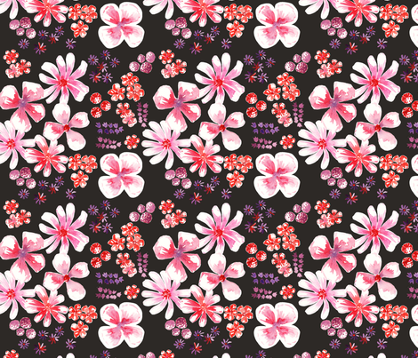 amélie fond noir M fabric by nadja_petremand on Spoonflower - custom fabric