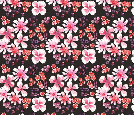 amélie fond noir M fabric by nadja_petremand on Spoonflower - custom fabric