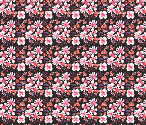 amélie fond noir S fabric by nadja_petremand on Spoonflower - custom fabric