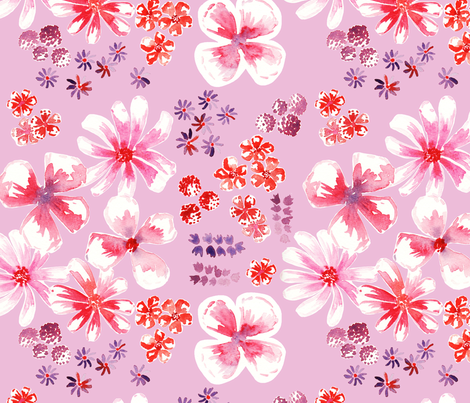amélie fond rose L fabric by nadja_petremand on Spoonflower - custom fabric