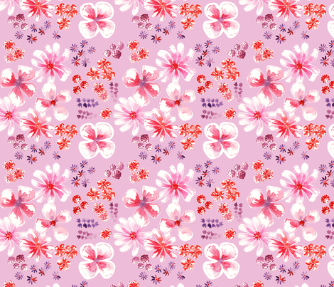 amélie fond rose M fabric by nadja_petremand on Spoonflower - custom fabric