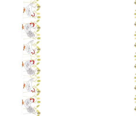 Chickens in Wheat fabric by alyson_chase on Spoonflower - custom fabric