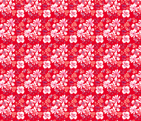 amélie fond rouge S fabric by nadja_petremand on Spoonflower - custom fabric