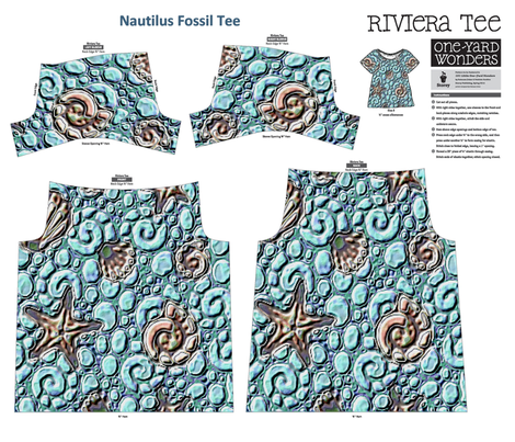 Nautilus Fossil Tee fabric by kdl on Spoonflower - custom fabric