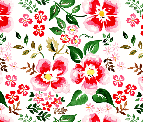 antoinette fleur L fabric by nadja_petremand on Spoonflower - custom fabric