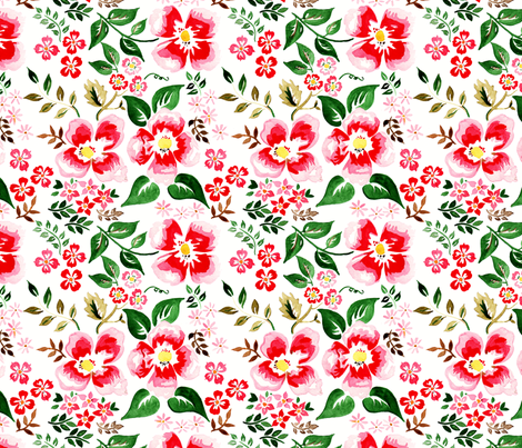 antoinette fleur M fabric by nadja_petremand on Spoonflower - custom fabric