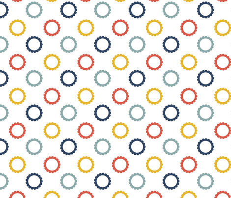 Posie - Multi fabric by 1606 on Spoonflower - custom fabric