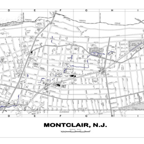 Montclair NJ street map