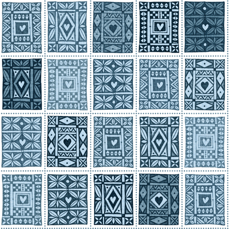 Keepsake Tuppeny Blue fabric by spellstone on Spoonflower - custom fabric
