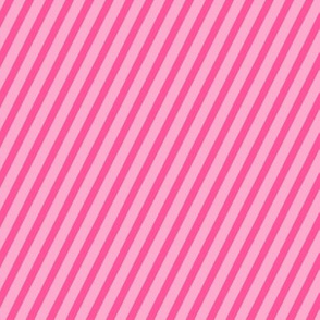Peony & Blush Pink Diagonal Stripes