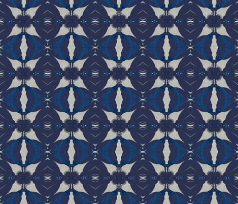 Night Bloomer, Blue large fabric by susaninparis on Spoonflower - custom fabric